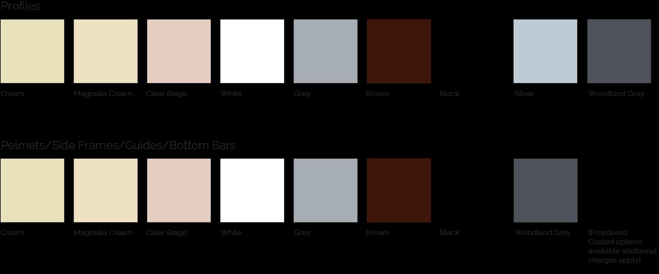 widespan colour options