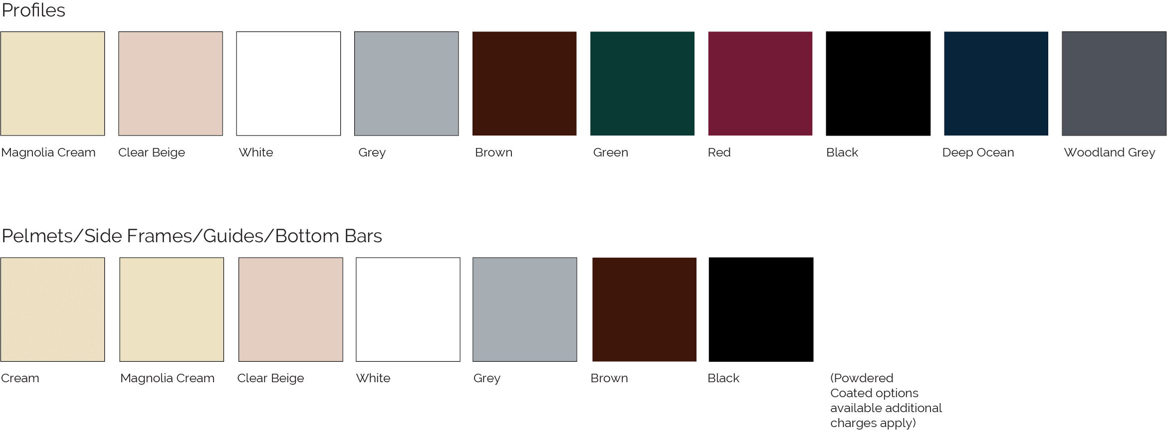 Double Line Colour Options