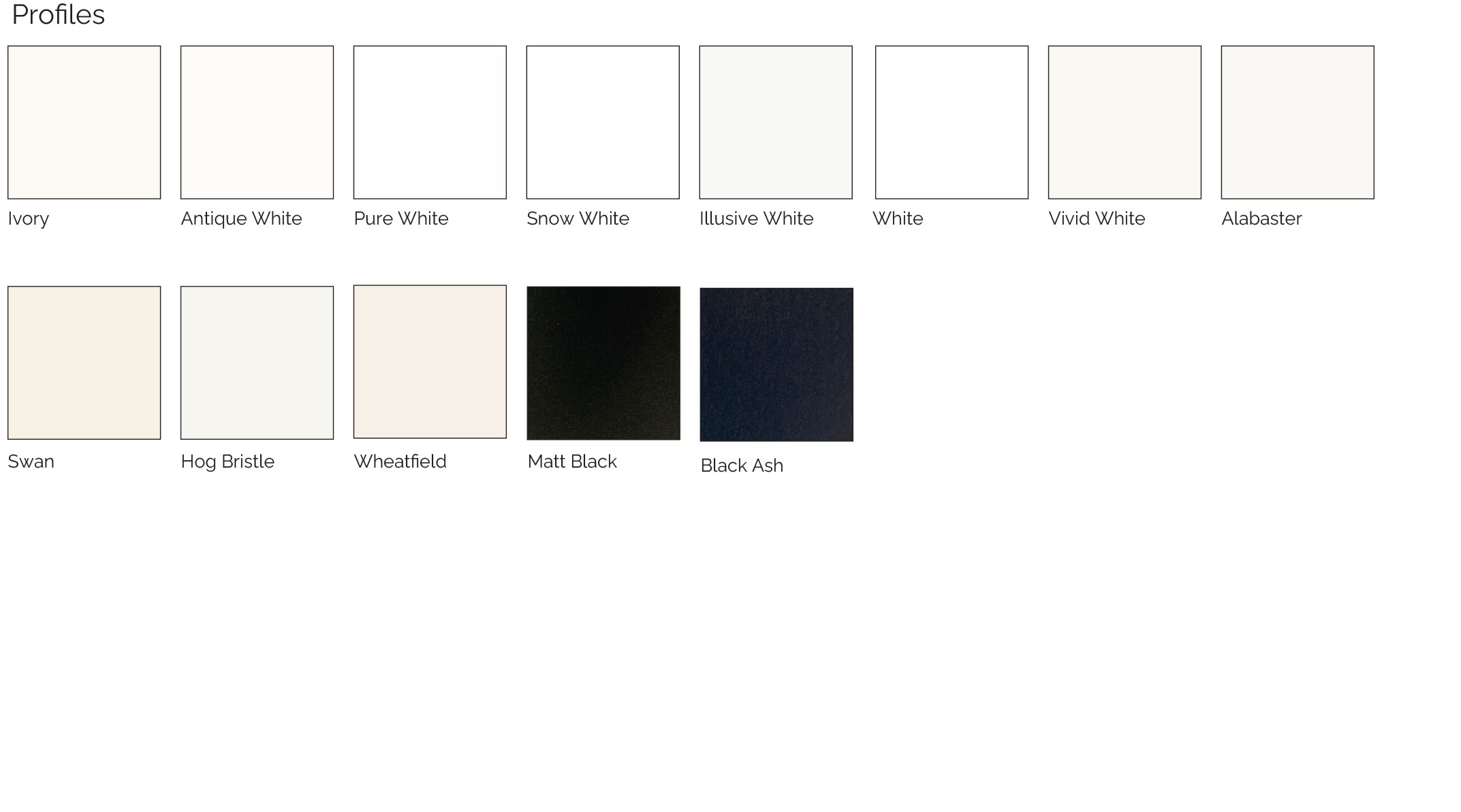 aluminium shutter colours